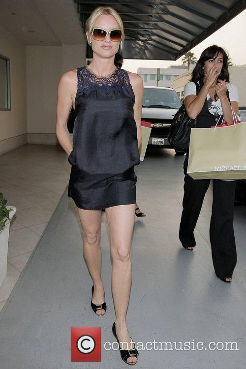 Nicollette Sheridan leaving Luxe Hotel on Rodeo Drive...