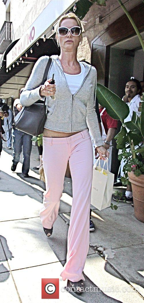 Leaving the Jim Wayne Salon in Beverly Hills