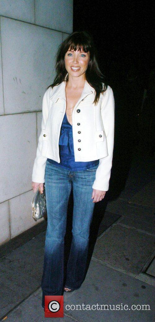 Danni Minogue leaving Nobu restaurant in Mayfair