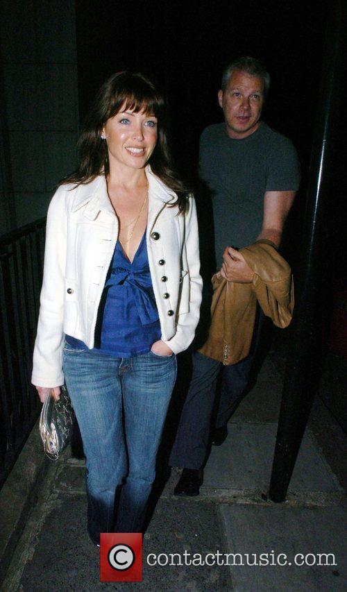 Danni Minogue leaving Nobu restaurant in Mayfair with...