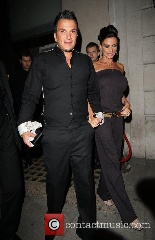 Katie Price aka Jordan and Peter Andre leaving...