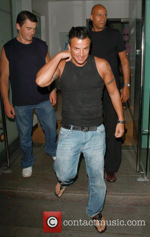 Peter Andre leaving Nobu after having dinner with...