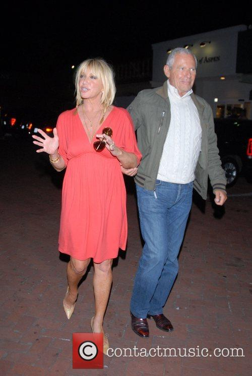 Suzanne Somers, Alan Hamel at Nobu in Cross...