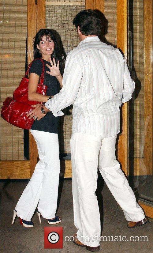Jason Sehorn and Angie Harmon at Nobu restaurant...