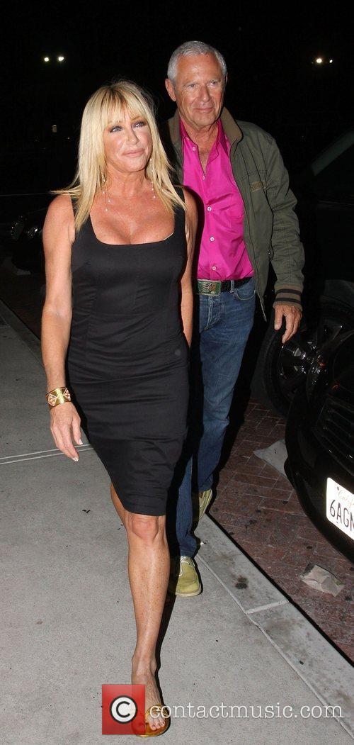 Suzanne Somers and Alan Hamel at Nobu restaurant...
