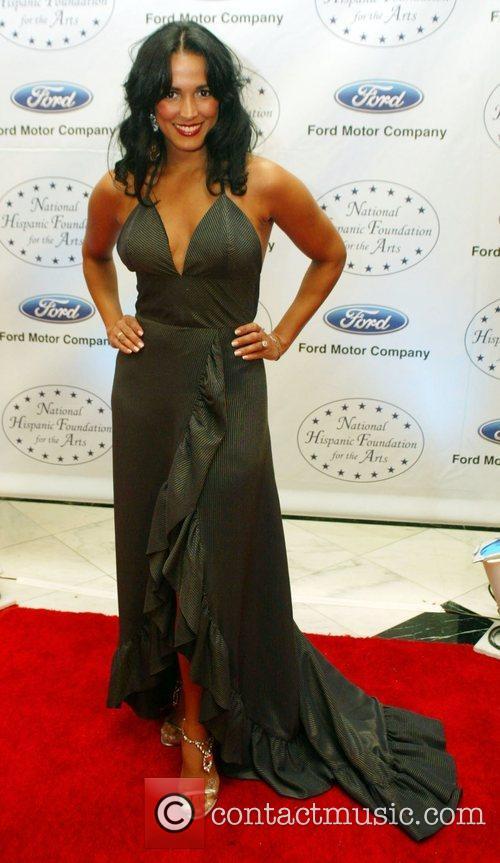 Celines Toribio attends the black tie reception of...