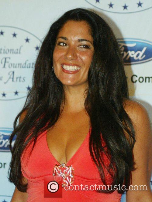 Yvonne Delarosa attends the black tie reception of...