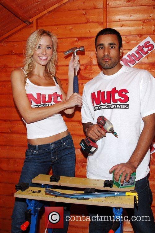 England Cricketer Ravi Bopara with Nuts model Imogen...
