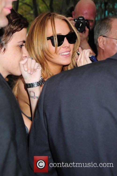 Lindsay Lohan and Samantha Ronson Mercedes-Benz Fashion Week...