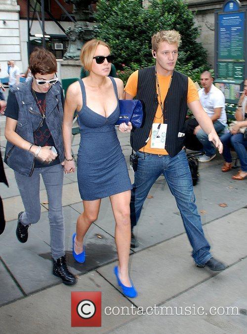 Lindsay Lohan and Samatha Ronson Mercedes-Benz Fashion Week...