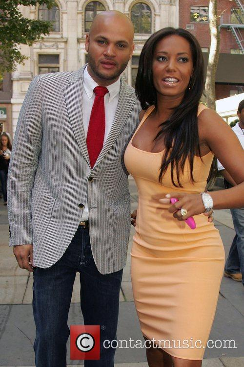 Stephen Belafonte and Melanie Brown Mercedes-Benz Fashion Week...