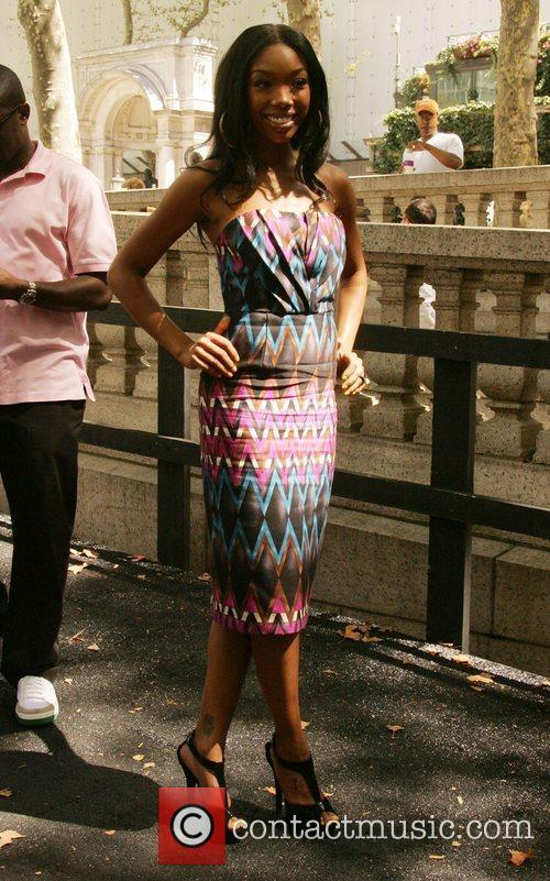Brandy Mercedes-Benz Fashion Week Spring 2009 - Celebrities...