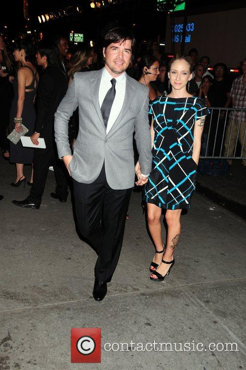 Matthew Settle and Naama Settle  Mercedes-Benz Fashion...