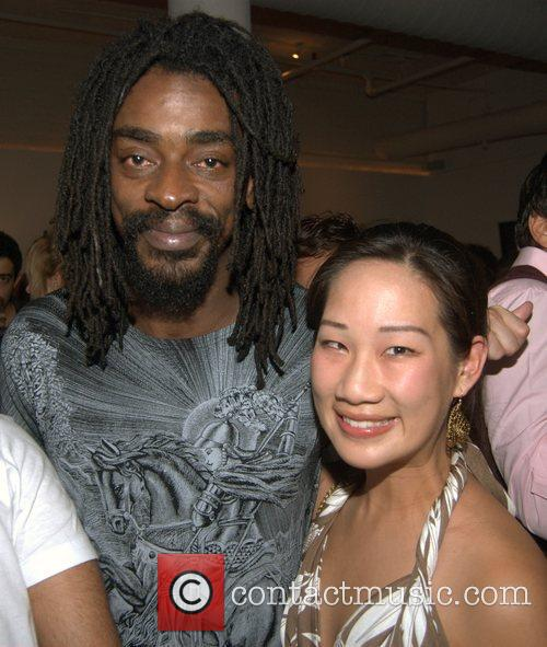 Seu Jorge (left) and guest Mercedes-Benz Fashion Week...