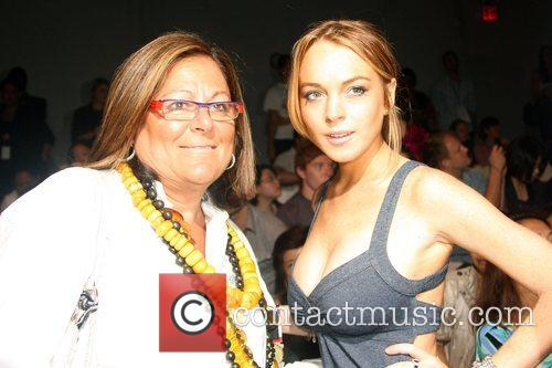 Lindsay Lohan and guest Mercedes-Benz Fashion Week Spring...