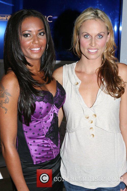 Melanie Brown and Frederique van der Wal Mercedes-Benz...
