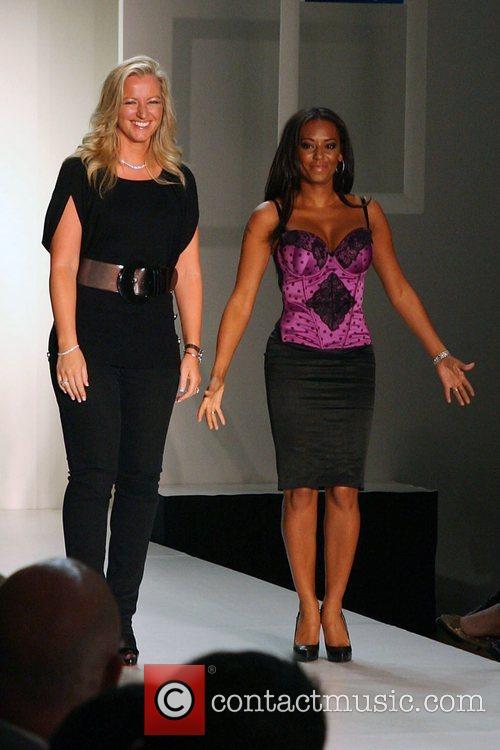 Michelle Mone and Melanie Brown Mercedes-Benz Fashion Week...