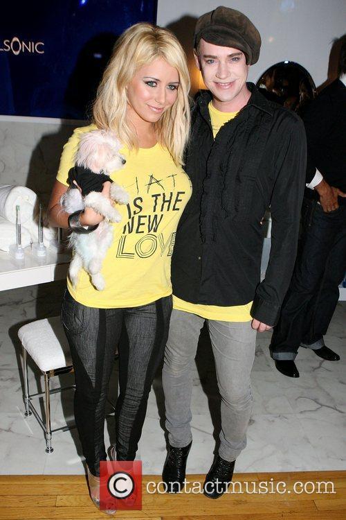Richie Rich and Aubrey O'Day Mercedes-Benz Fashion Week...