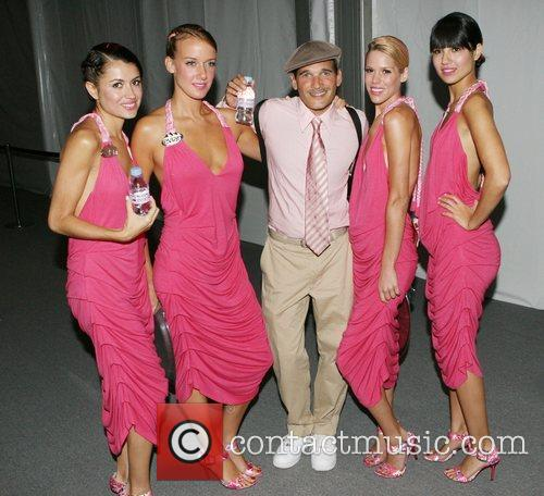 Philip Bloch with the Evian girls Mercedes-Benz Fashion...
