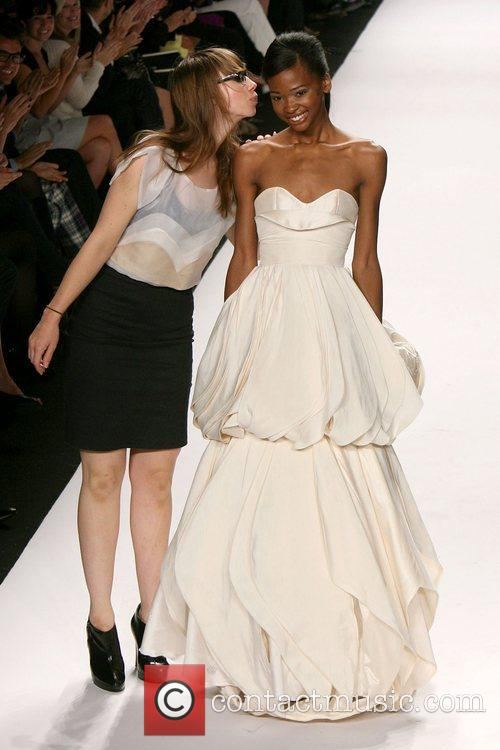 Finalist with model Mercedes-Benz Fashion Week Spring 2009...