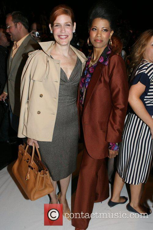 Laura Bennett and guest Mercedes-Benz Fashion Week Spring...