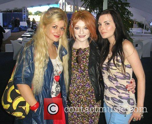 Nicola Roberts with the Daily Star Goss Girls...