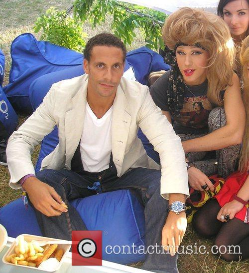 Rio Ferdinand and Jodie Harsh Celebrities at The...