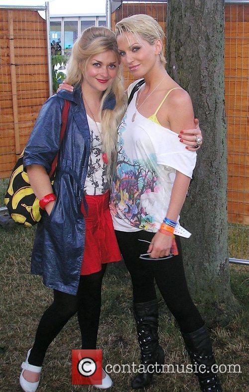 Sarah Harding with the Daily Star Goss Girls...