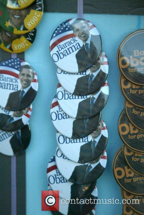 Democratic Presidential candidate Barak Obama campaigned for votes...