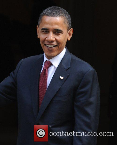 US presidential candidate Barack Obama at 10 Downing...