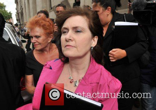 Michelle Diskin leaves the Old Bailey after her...