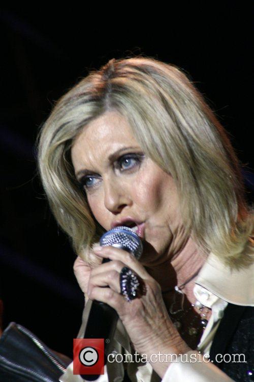 Olivia Newton-John performing live at the 2008 gay...