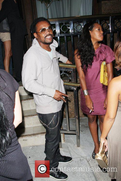 Apl.de.ap of the Black Eyed Peas partying with...
