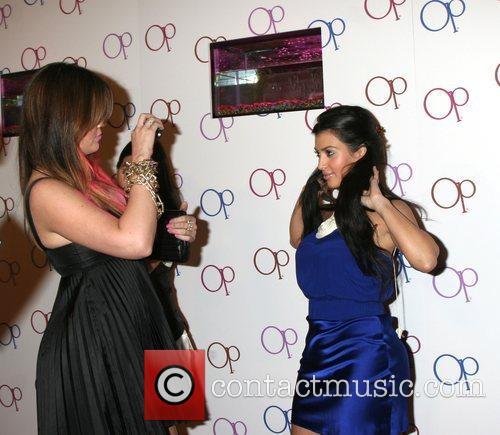 Khloe Kardashian and Kim Kardashian Op Launch of...