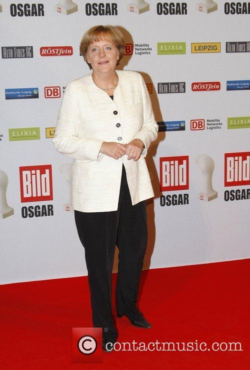 Angela Merkel Osgar Awards at Leipziger Rathaus city...
