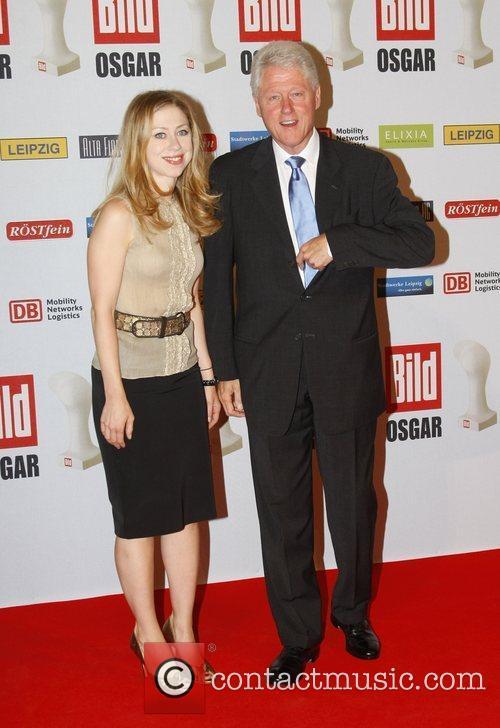 Bill Clinton and his daughter Chelsea Osgar Awards...