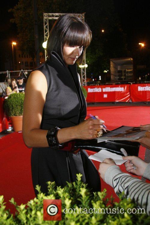 Franziska van Almsick Osgar Awards at Leipziger Rathaus...
