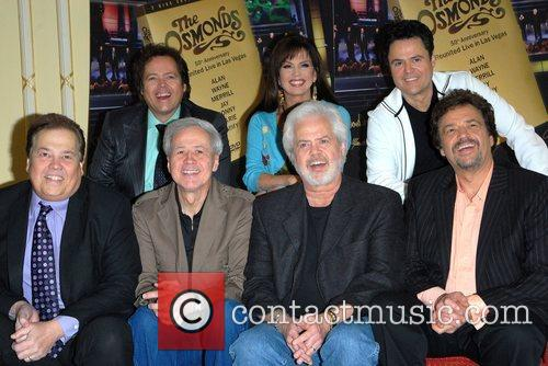 The Osmonds at a photocall to celebrate their...
