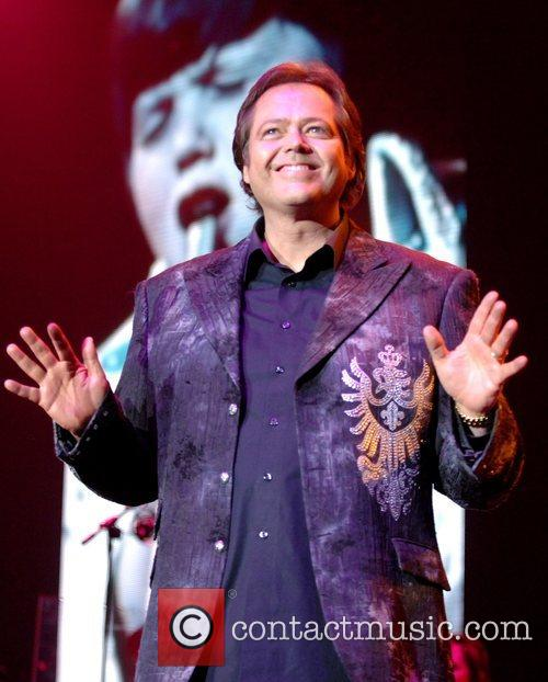 Jimmy Osmond perform during their 50th anniversary tour...