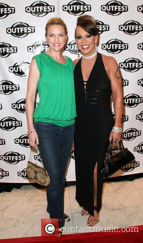 Elaine Hendrix and Guest Outfest film festival closing...
