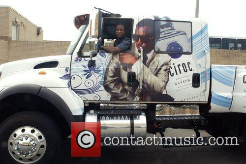 A truck-detail P. Diddy advertisement for Ciroc vodka...