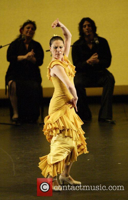 Paco Pena and his flamenco dance company performing...