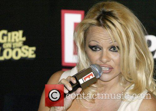 Pamela Anderson holds a press conference at the...