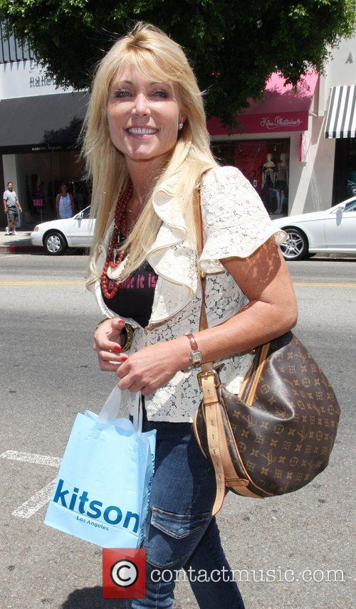 Pamela Bach after shopping in Kitson on Robertson...