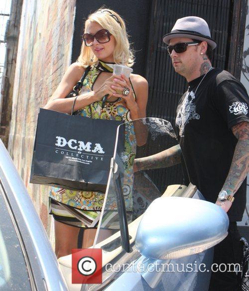 Paris Hilton and Benji Madden at DCMA store...