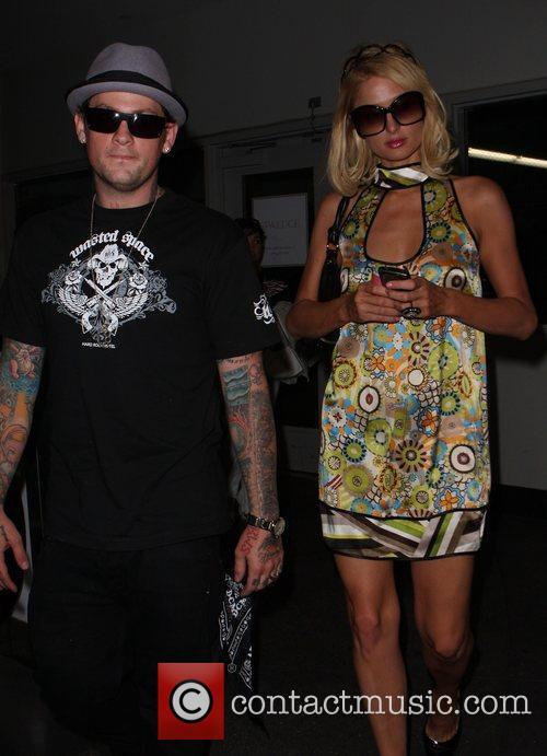 Paris Hilton and Benji Madden at the parking...