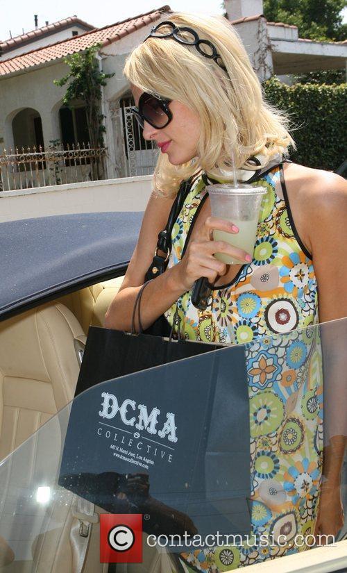 Paris Hilton leaving the DCMA store Los Angeles,...