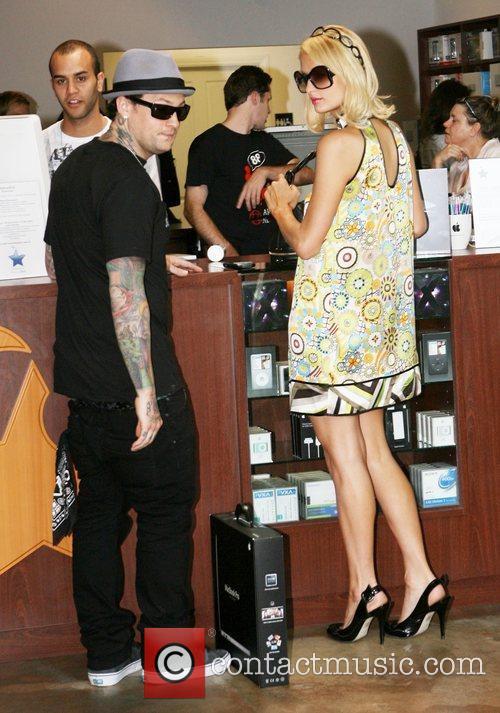 Paris Hilton and Benji Madden shopping at the...