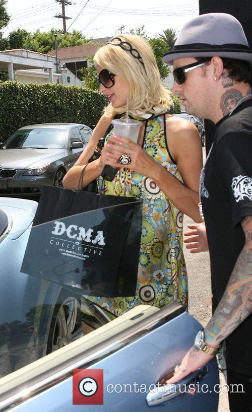 Paris Hilton and Benji Madden leaving the DCMA...