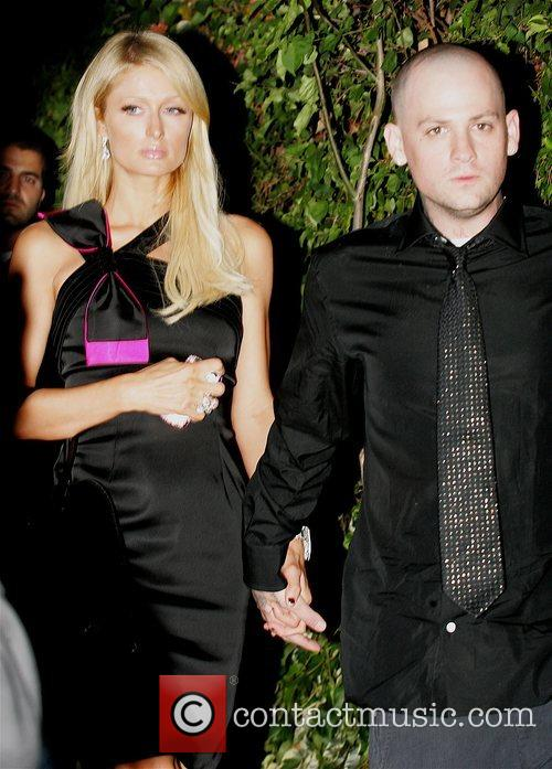 Arriving at the Chateau Marmont hotel